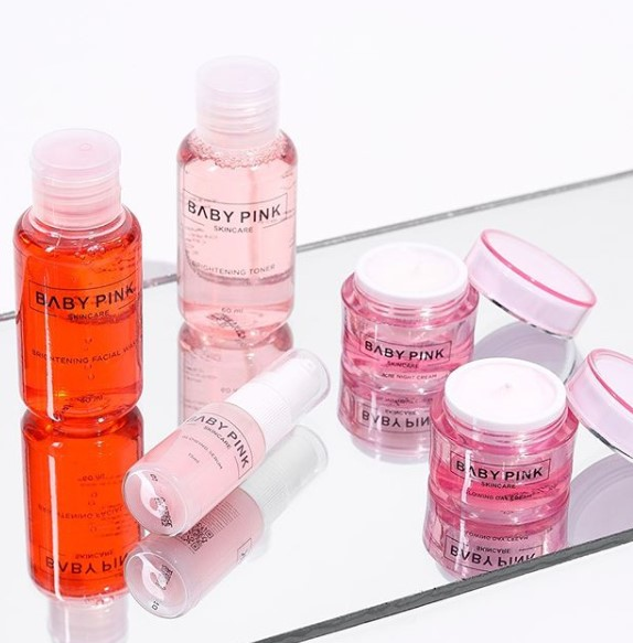baby pink acne series